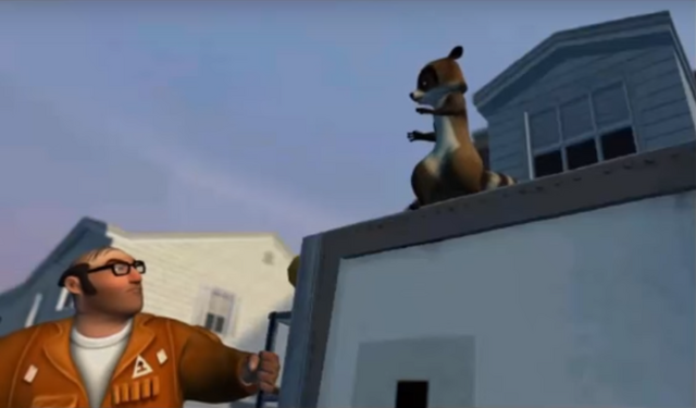 File:Over the Hedge Video Game Dwayne Glaring at RJ.png