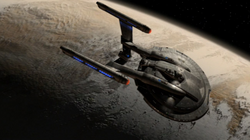 HCS Harbinger orbiting