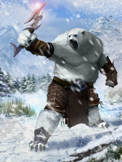 Polar Bear Warrior-picture only