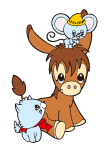 File:Sanrio Characters Spunky Burro Image002.png