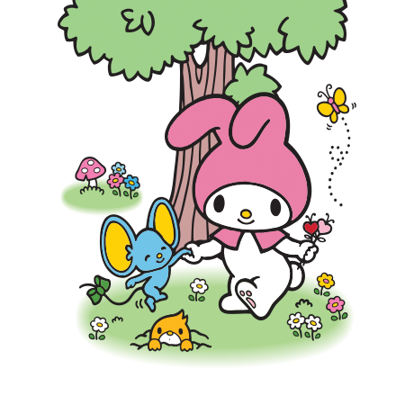 File:Sanrio Characters My Melody--Flat--Mogura Image001.png