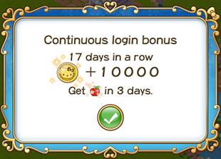 Login bonus day 17