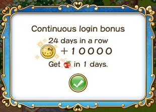 Login bonus day 24