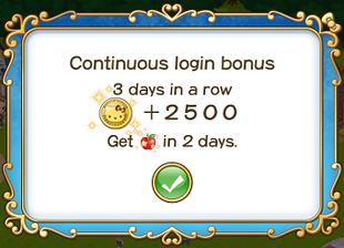 Login bonus day 3
