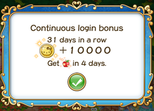 Login bonus day 31