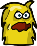 Yellow Hairy Monster