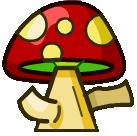 Red Mushroom Small