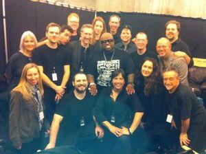 Cast backstage at Grammys 2010