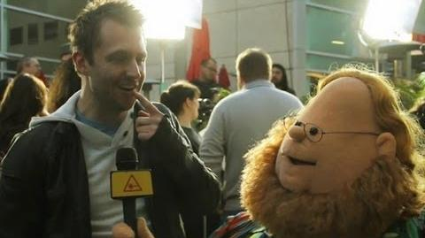 Chris Hardwick interviewed by Puppet Harry Knowles