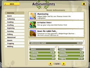 Achievement Page