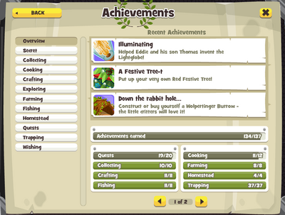 Achievement Page