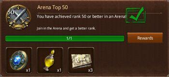Arena Top 50