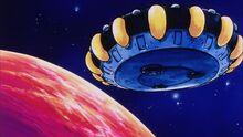 Planet Vegeta and Frieza's Ship