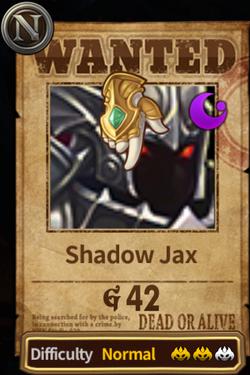 Shadow Jax Wanted Image
