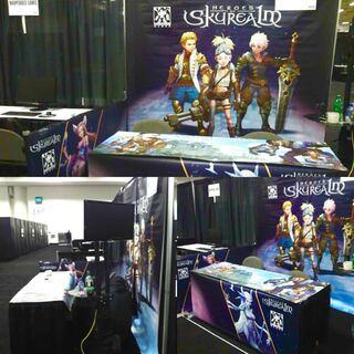 The Heroes of Skyrealm booth