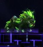 Epic Elemental Wolf - Green