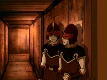 Zuko and Sokka as guards