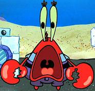 Mr. Krabs' jaw drop