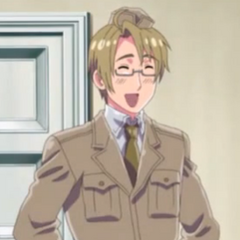 America wearing his Air Force uniform in the anime from <a href=