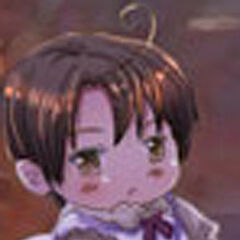 Romano as a child, in his first servant outfit.
