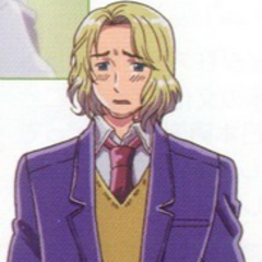 France in his Gakuen uniform in the anime.