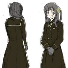 A colored version of the Asia Class's girls uniform.