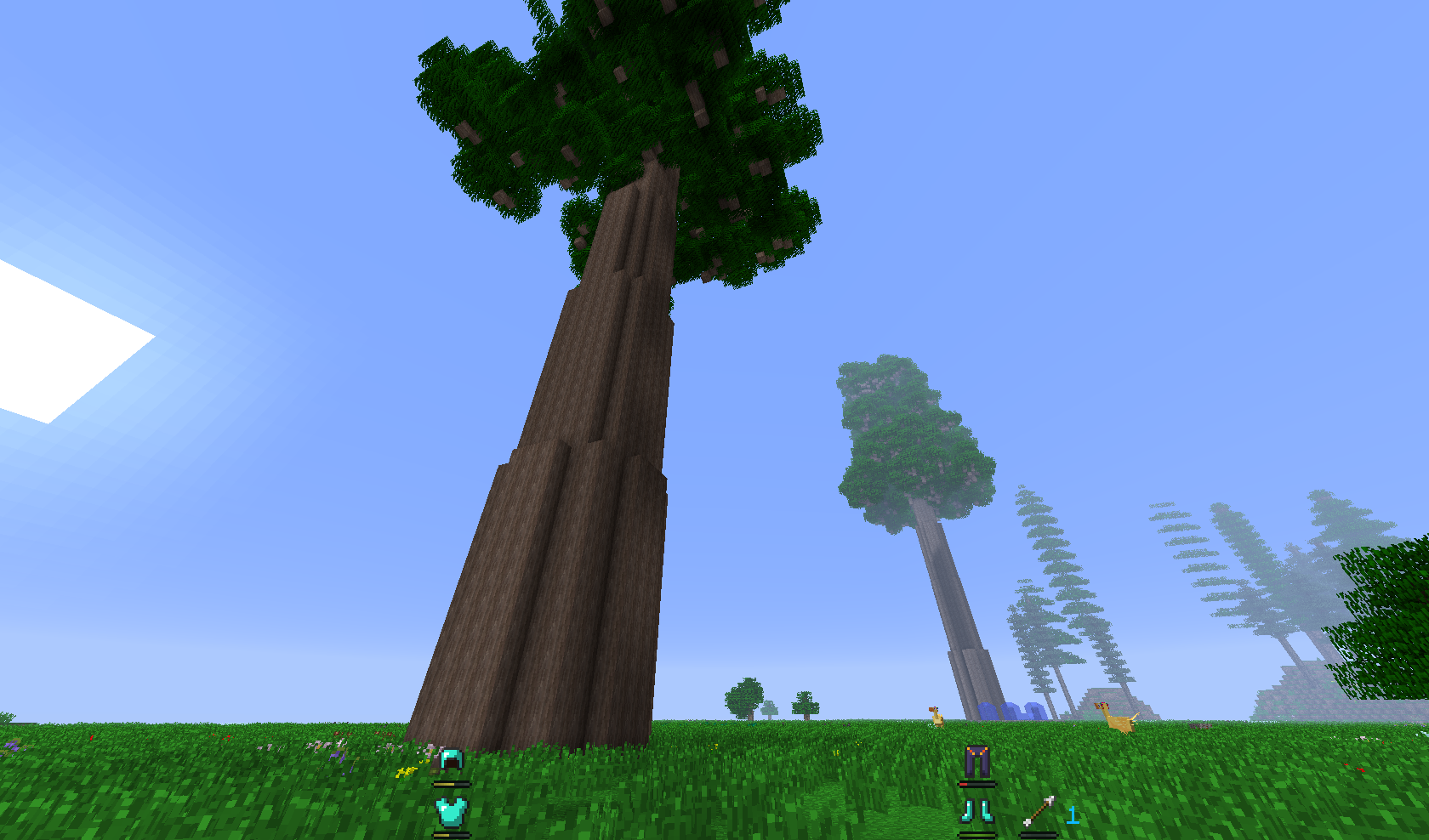 minecraft how to build a big tree with thick base