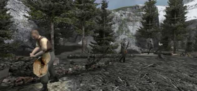 File:Alpine woodcutters camp.jpg