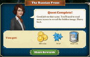 Quest The Russian Front-Rewards