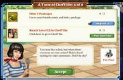 Quest A Taste of ChefVille 4-Tasks