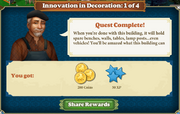 Quest Innovation in Decoration 1-Rewards