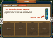 Marketplace Gardening Storage-Inside