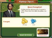 Quest Kipling's Tiger 6-Rewards