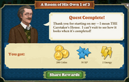Quest A Room of His Own 1-Rewards