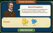 Quest-UnlockParisBistro-Completed