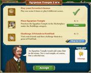 Quest Egyptian Temple 1-Tasks