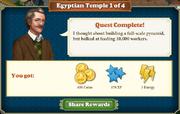 Quest Egyptian Temple 1-Rewards