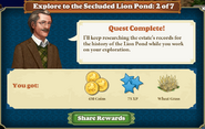 Explore to the Secluded Lion Pond 2 of 7-Rewards