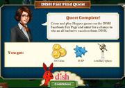 Quest DISH Fast Find Quest-Rewards