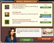 Quest Mother's Memories 1-Tasks