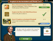 Explore to the secluded Lion pond 2 of 7 tasks