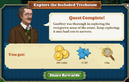 Quest Explore the Secluded Treehouse-Rewards