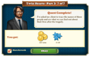 Quest Twin Hearts Part Three 7-Rewards