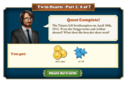 Quest Twin Hearts Part One 6-Rewards