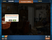 Scene Curator's Office Mini Game 1