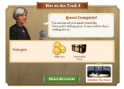Quest Hot on the Trail 9-Rewards