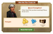 Quest Hot on the Trail 10-Rewards