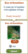 Questitem Ray of Sunshine-Inventory