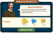 Quest Hitting the Hoops 1-Rewards
