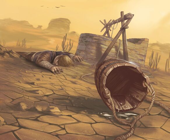 Archivo:Poisoned Well by Dimitri Bielak, Fantasy Flight Games©.jpg